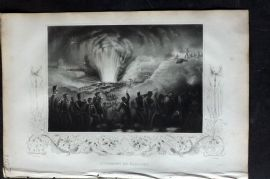 Tallis (Pub) 1853 Military Print. Storming of Badajoz, Spain
